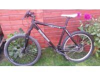 mongoose tyax down hill bike, aluminium frame, 26'' wheels