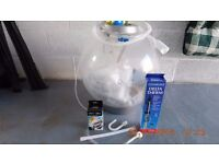 Large 60 litre BiOrb with all the heating and filtering equipment.