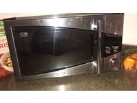 DeLonghi Silver Microwave Oven