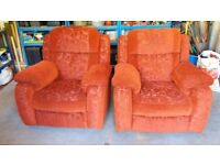 Pair of electric recliner armchairs for sale