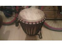 Traditional african djembe drum