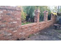 Bricklaying and paving driveways and walls