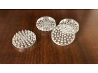 New set of clear caster cups - FREE POSTAGE