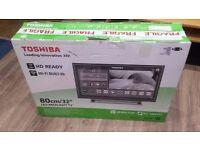 "Toshiba 32"" 1080p Full HD Freeview Smart Wifi LED TV BRAND NEW!! £170"