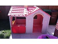 Double plastic childrens playhouse