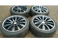 INDIVIDUAL 22 INCH ALLOY WHEEL 5X120 RANGE ROVER LAND ROVER X5 VW T5 L322 VOGUE SPORT