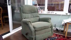 Reclining rocker chair