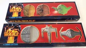 Star Wars and Dr Who cookie cutters