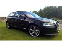 09 AUDI A3 ONLY 50K FULL SERVICE HISTORY FINISHED IN GLEAMING BLACK .WITH 12 MONTHS MOT