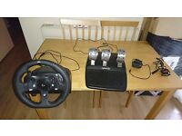 xbox one racing wheel logitech G920 racing wheel with pedals nearly brand new great condition