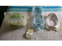 Nappies size 6, potty and child seat for toilet