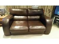 2 seater sofa faux leather