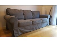 Ikea EKTORP, grey, 3-seater couch