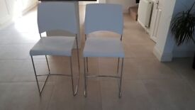 2 STING by VERCO white barstools. RRP £160 per chair. New. Collect from Putney