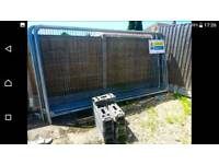 8, security fence panels, bases and clips.