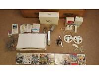 Nintendo Wii, board and games bundle