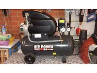 SEALY 2 HP 24 LITRE 240 VOLT AIR COMPRESSOR FOR SALE HARDLY USED!!