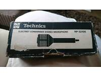 Technics electret condenser stereo microphone.