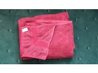John Lewis/Dunlm Cherry Red Eyptian Cotton Towel/Bath Mat Bale