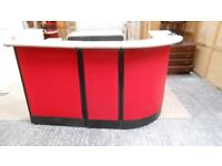 reception shop counter print shop care home 3 piece curved desk with storage. can deliver