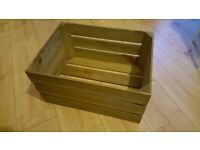 Wooden Apple Crates - Vintage Used Fruit Boxes. Last 2 Boxes. £ 10 Each