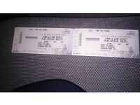 2 Korn and Limp Bizkit standing tickets Glasgow 14th December
