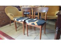Pair Mid Century Dining Chairs