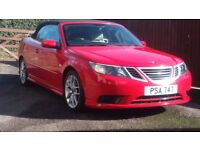 Saab 93 vector sport convertible rare red with full leather full history