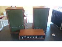Vintage Amstrad Amplifier & Speakers Spare Or Repair £20 OVNO