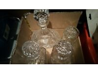 4 Cut glass Decanters