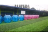 Bubble football sessions from £154 per hour.