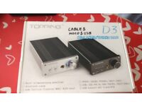 Topping D3 Desktop Headphone Amp and PC Soundcard (USB/Optical/Coaxial/BNC)