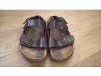 Mens Leather Birkenstock - Two strap UK Size 10