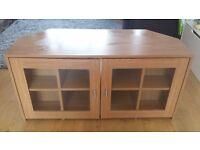 TV cabinet oak effect