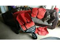 Stunning Mothercare All terrain Double buggy