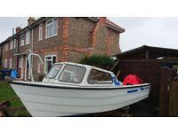 17 ft fishing boat with 40hp marina