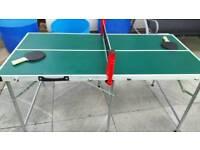Metal table tennis set in bag