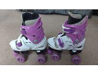Girls Rollerskates - adjustable size 13-3 - £5