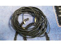 Gold plated Phono leads (x2) - 10m long