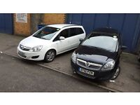 PCO CAR HIRE £120 PER WEEK VAUXHALL ZAFIRA UBER CAR HIRE PCO CAR WITH INSURANCE 7 SEATER PCO HIRE