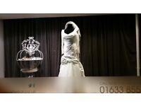 Fishtail Wedding dress bespoke hand made ivory wedding with gorgeous diamante detail