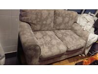 2 walton sofas ( sofa + sofabed ) , mayfair stone floral fabric exc cond