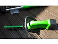 Extendable headge strimmer (no docking for batterys)