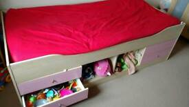 Single bed with storage space