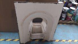 Cast iron fireplace white