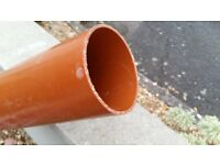 110mm Ground work soil pipe Offcut, 1800mm long