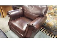 Extremely Comfortable Brown Leather Armchair in Excellent Condition