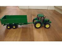 John Deere Play Tractor and Tipping Trailer set