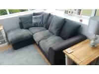Grey and black corner sofa SSTC