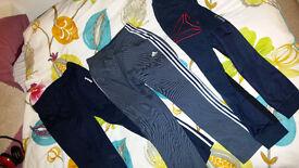mens boys track trousers reebok adidas as new
